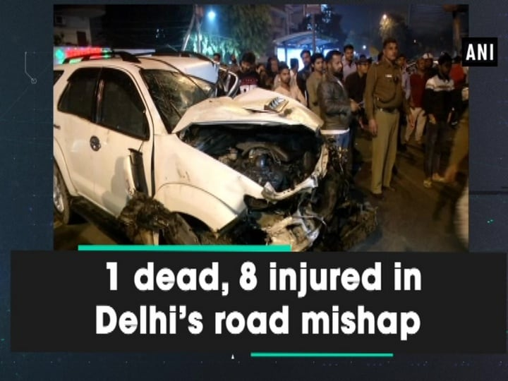 1 dead, 8 injured in Delhi's road mishap