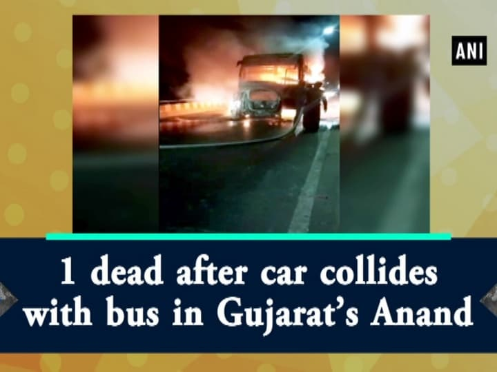 1 dead after car collides with bus in Gujarat's Anand