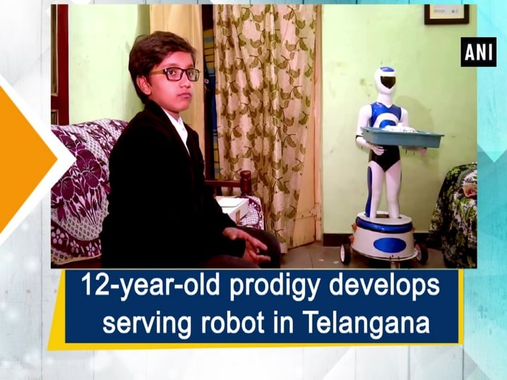 12-year-old prodigy develops serving robot in Telangana