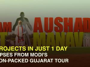 17 projects in just 1 day: Glimpses from Modi's action-packed Gujarat tour