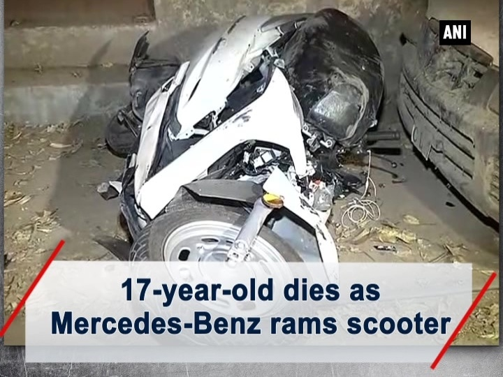 17-year-old dies as Mercedes-Benz rams scooter