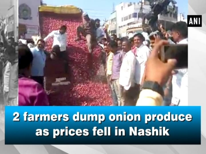 2 farmers dump onion produce as prices fell in Nashik