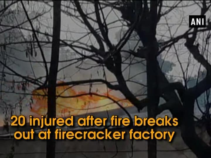 20 injured after fire breaks out at firecracker factory