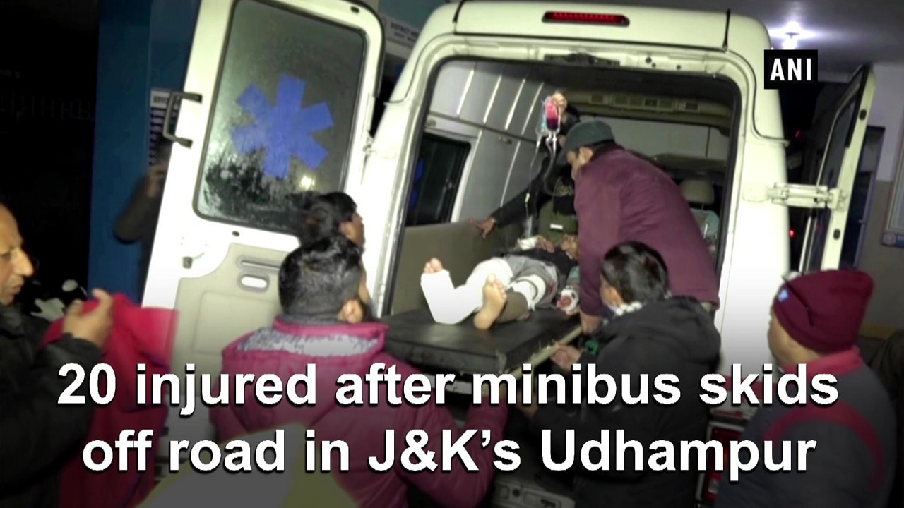 20 injured after minibus skids off road in JandK's Udhampur