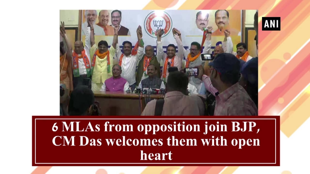 6 MLAs from opposition join BJP, CM Das welcomes them with open heart