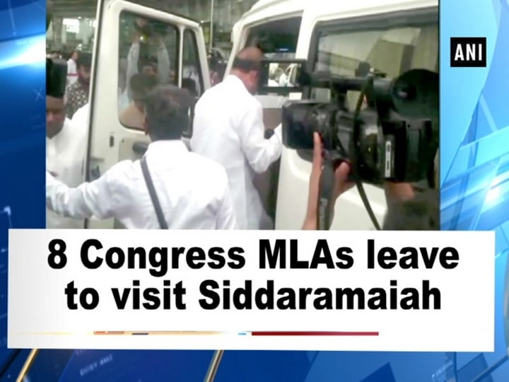 8 Congress MLAs leave to visit Siddaramaiah