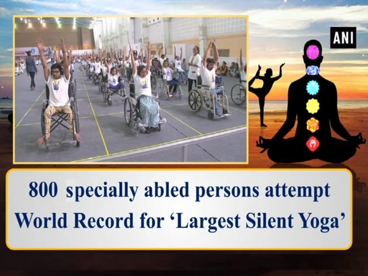 800 Specially abled persons attempt World Record for 'Largest Silent Yoga'