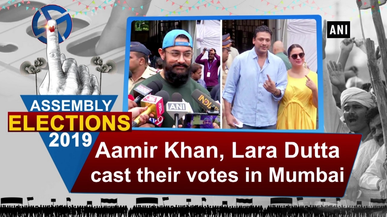 Aamir Khan, Lara Dutta cast their votes in Mumbai