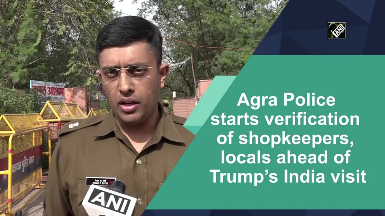 Agra Police starts verification of shopkeepers, locals ahead of Trump's India visit