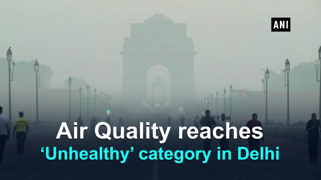 Air Quality reaches 'Unhealthy' category in Delhi