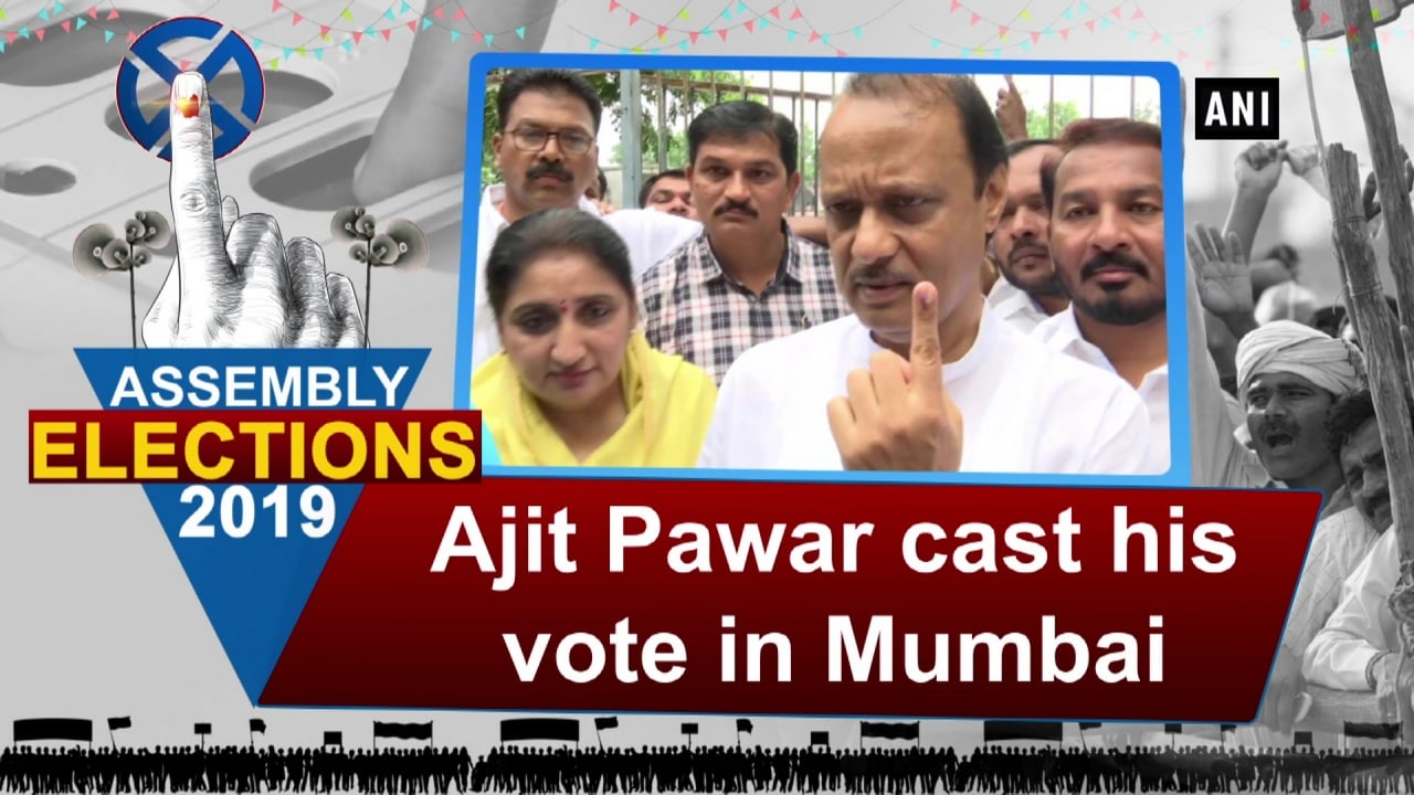 Ajit Pawar cast his vote in Mumbai
