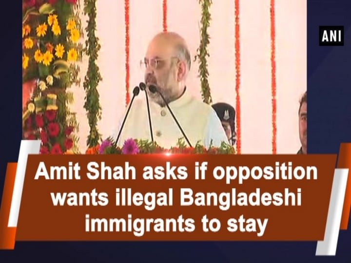 Amit Shah asks if opposition wants illegal Bangladeshi immigrants to stay