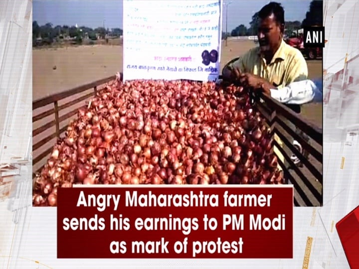 Angry Maharashtra farmer sends his earnings to PM Modi as mark of protest