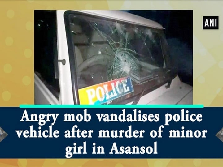 Angry mob vandalises police vehicle after murder of minor girl in Asansol