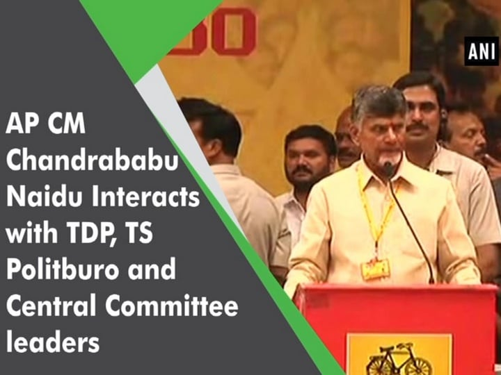 AP CM Chandrababu Naidu Interacts with TDP, TS Politburo and Central Committee leaders