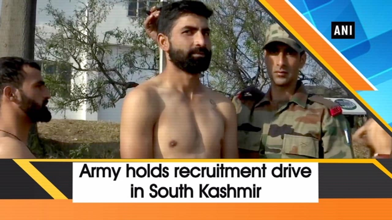 Army holds recruitment drive in South Kashmir