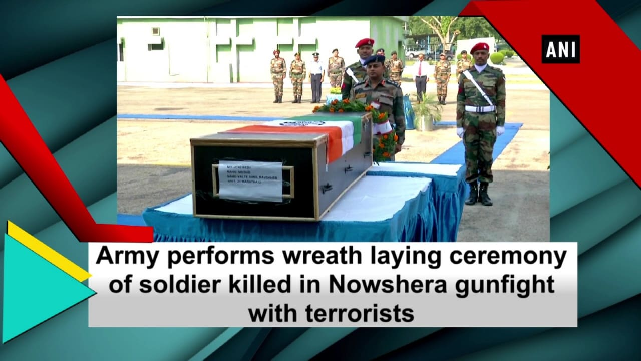 Army performs wreath laying ceremony of soldier killed in Nowshera gunfight with terrorists