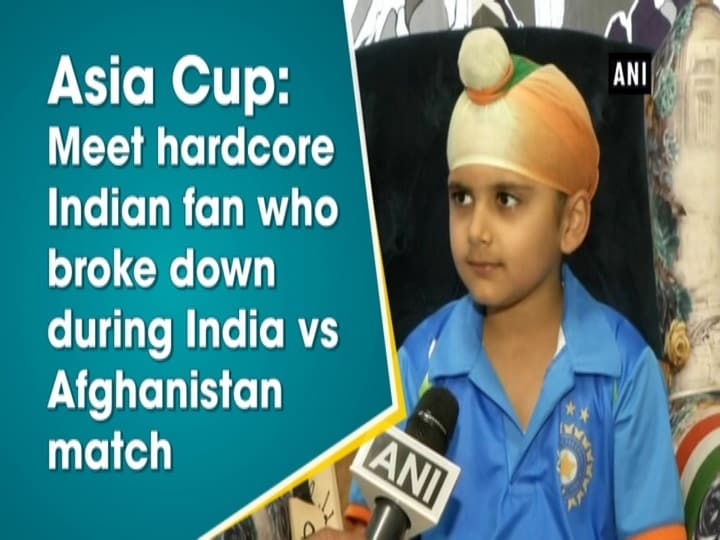 Asia Cup: Meet hardcore Indian fan who broke down during India vs Afghanistan match