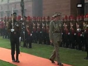 Australian Army Chief receives Guard of Honour in New Delhi
