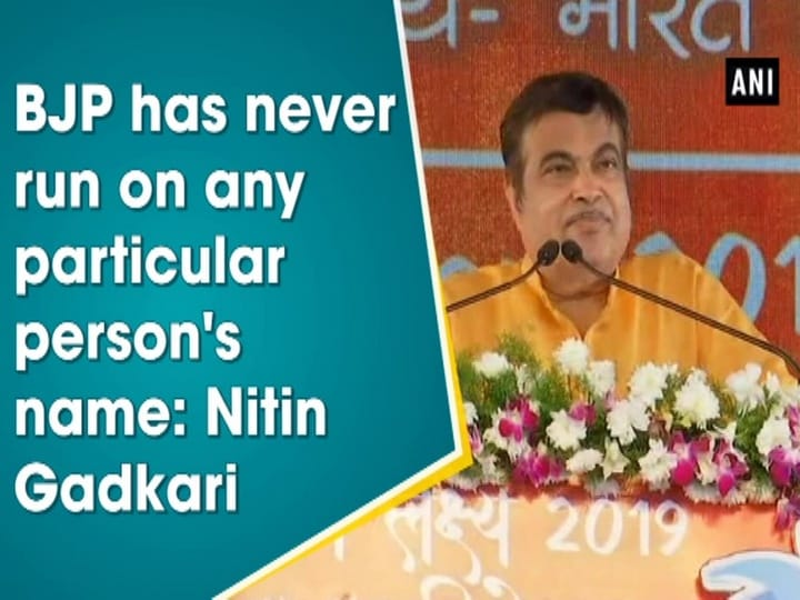 BJP has never run on any particular person's name: Nitin Gadkari