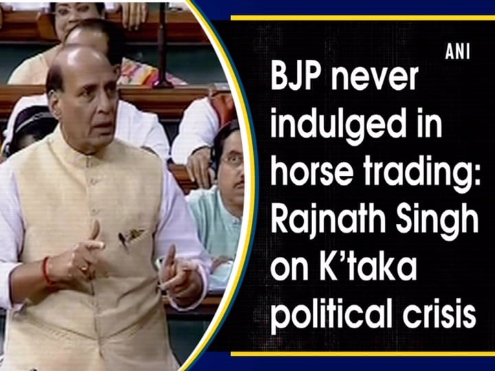 BJP never indulged in horse trading: Rajnath Singh on K'taka political crisis