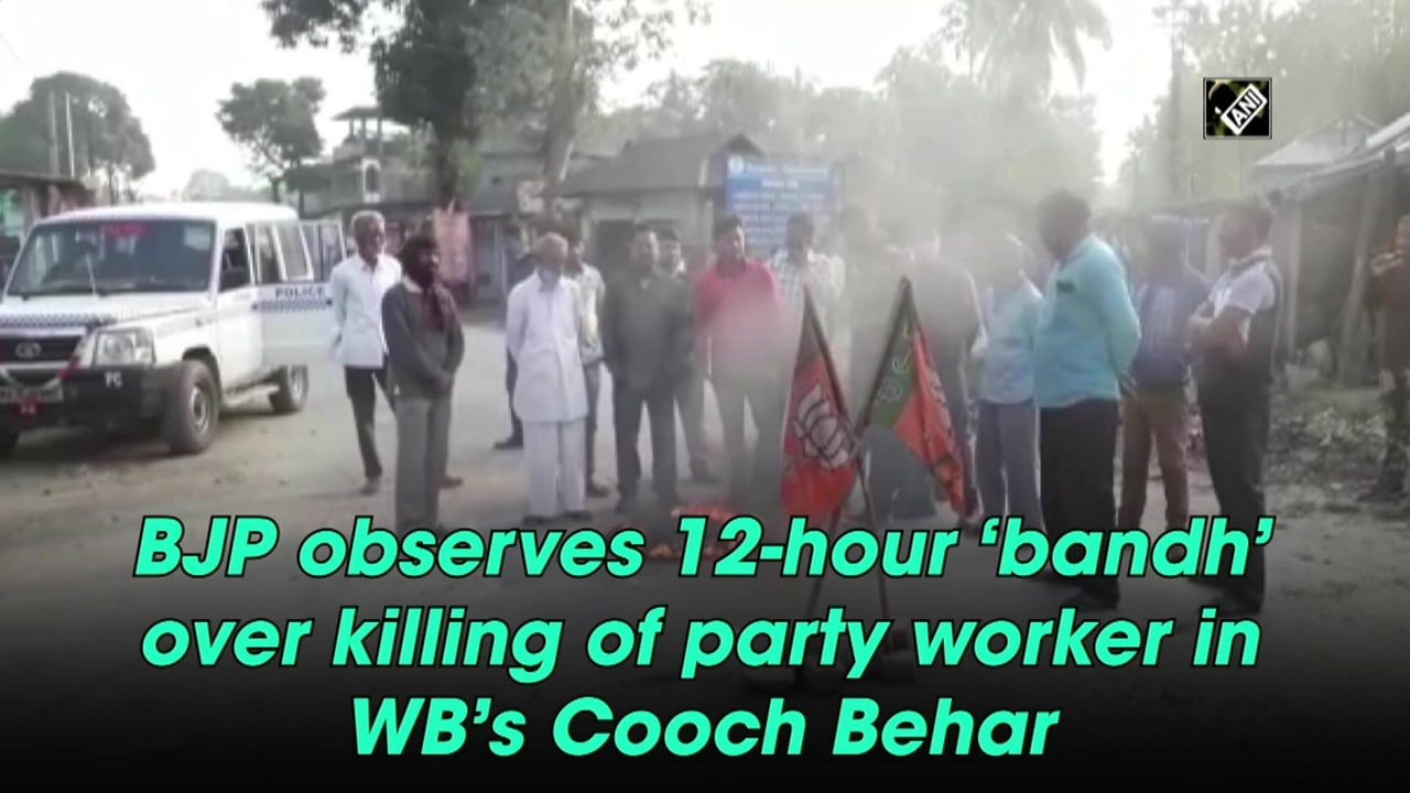 BJP observes 12-hour 'bandh' over killing of party worker in WB's Cooch Behar