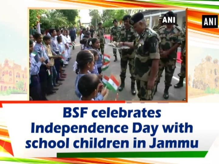 BSF celebrates Independence Day with school children in Jammu