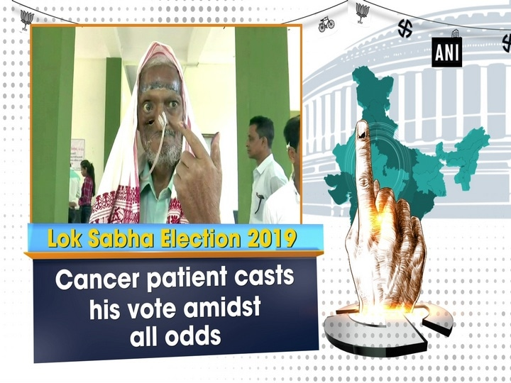 Cancer patient casts his vote amidst all odds