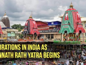 Celebrations in India as Jagannath Rath Yatra begins