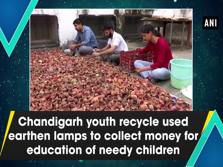 Chandigarh youth recycle used earthen lamps to collect money for education of needy children
