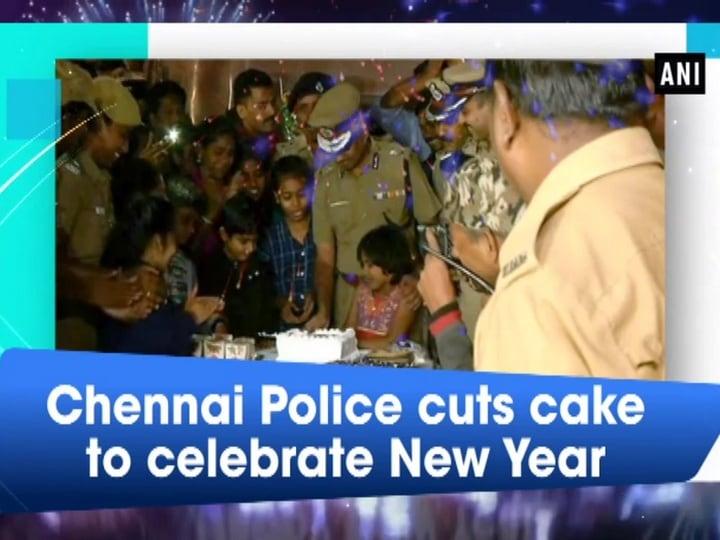Chennai Police cuts cake to celebrate New Year