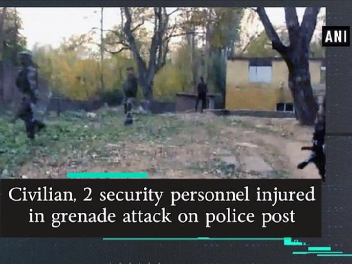 Civilian, 2 security personnel injured in grenade attack on police post