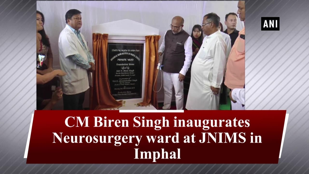 CM Biren Singh inaugurates Neurosurgery ward at JNIMS in Imphal