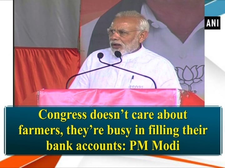 Congress doesn't care about farmers, they're busy in filling their bank accounts: PM Modi