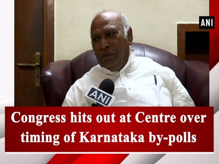 Congress hits out at Centre over timing of Karnataka by-polls