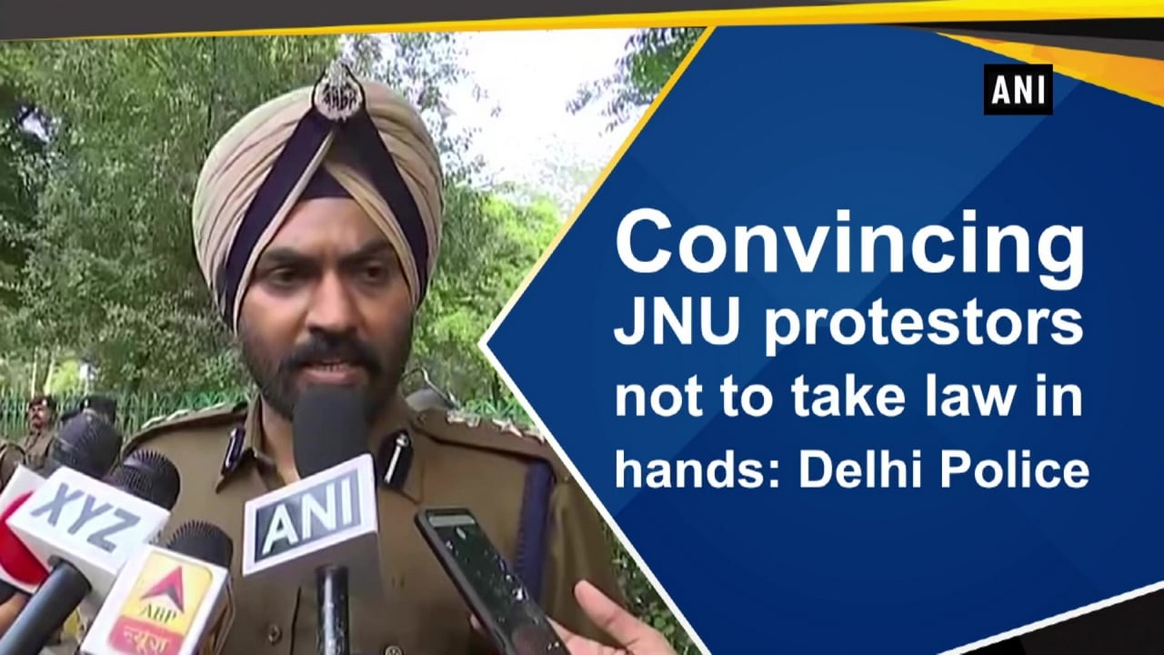 Convincing JNU protestors not to take law in hands: Delhi Police