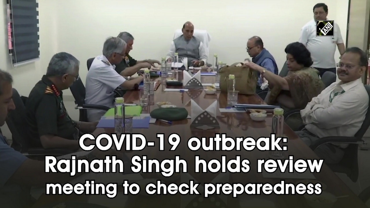 COVID-19 outbreak: Rajnath Singh holds review meeting to check preparedness