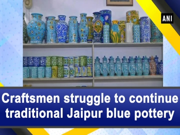 Craftsmen struggle to continue traditional Jaipur blue pottery