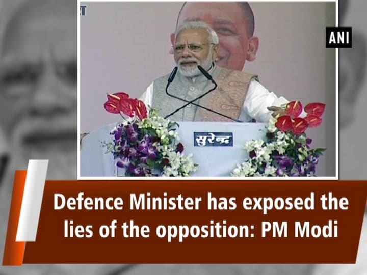 Defence Minister has exposed the lies of the opposition: PM Modi