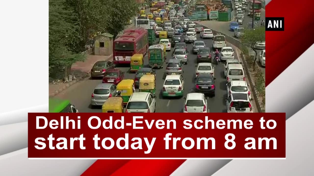 Delhi Odd-Even scheme to start today from 8 am