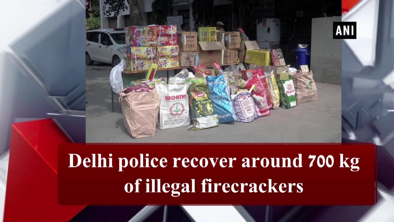 Delhi police recover around 700 kg of illegal firecrackers