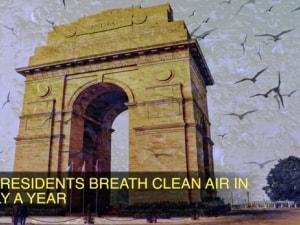 Delhi residents breath clean air in nearly a year