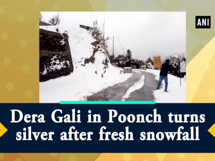Dera Gali in Poonch turns silver after fresh snowfall