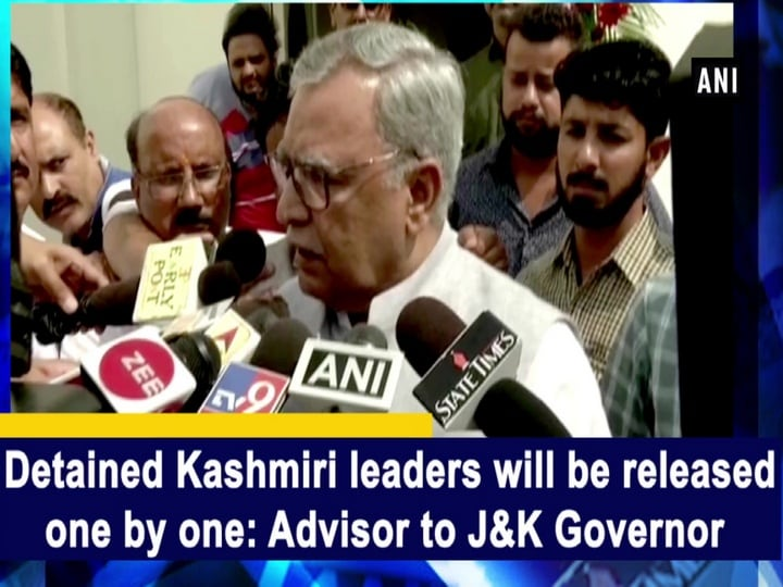 Detained Kashmiri leaders will be released one by one: Advisor to J-K Governor