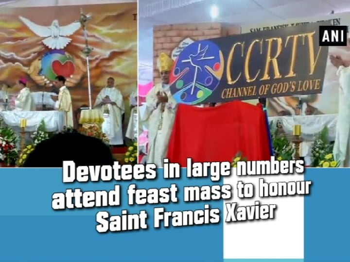 Devotees in large numbers attend feast mass to honour Saint Francis Xavier