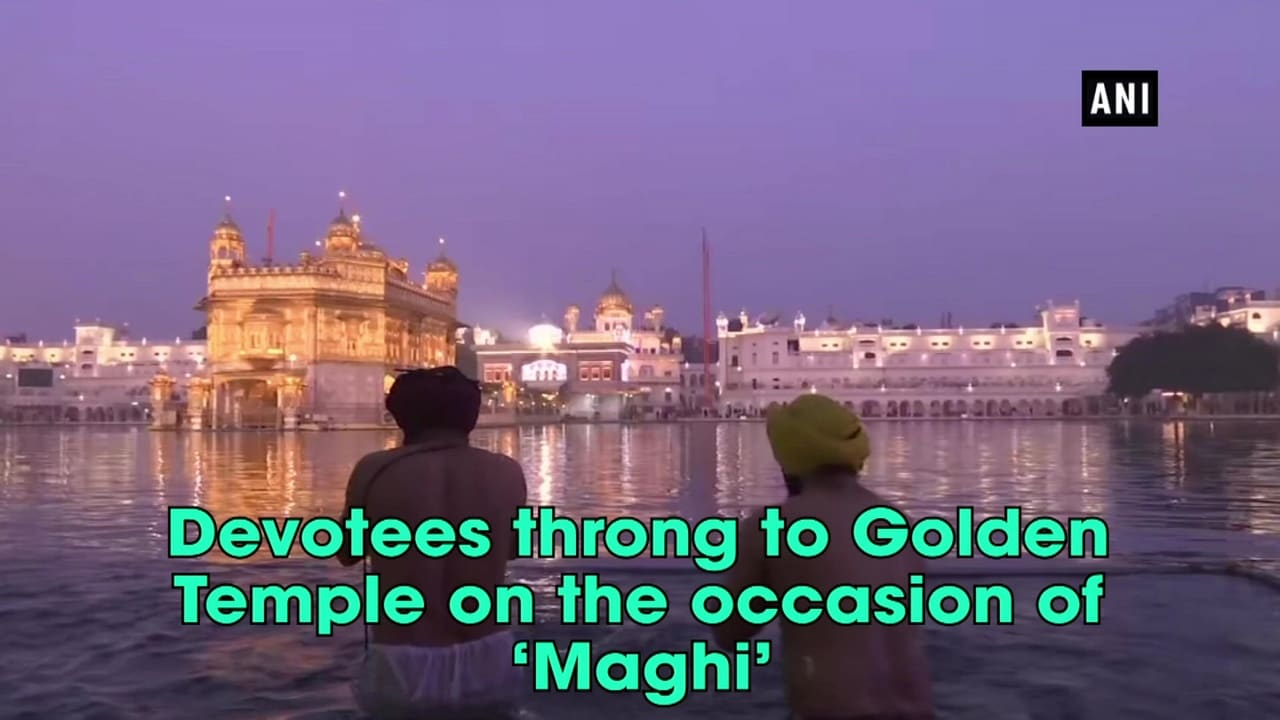 Devotees throng to Golden Temple on the occasion of 'Maghi'