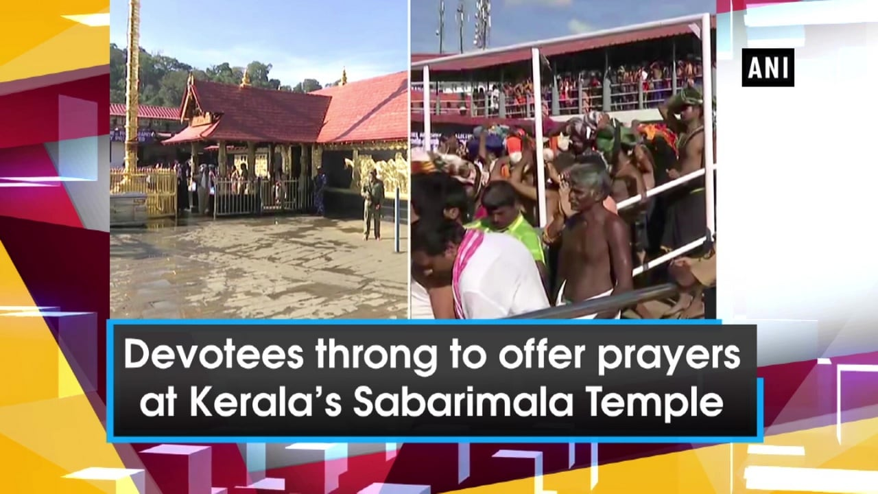 Devotees throng to offer prayers at Kerala's Sabarimala Temple