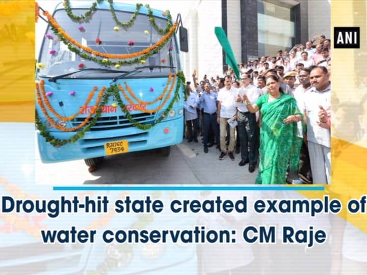 Drought-hit state created example of water conservation: CM Raje