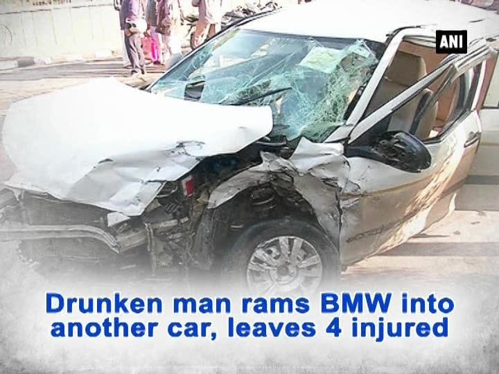 Drunken man rams BMW into another car, leaves 4 injured