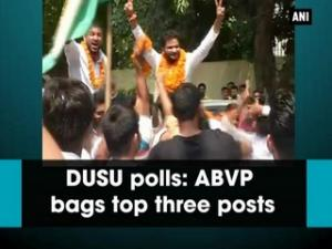 DUSU polls: ABVP bags top three posts